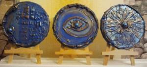 Blaue runde Bilder