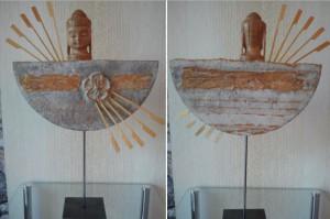 Holz-Buddha