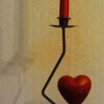 Kerze mit Herz 2