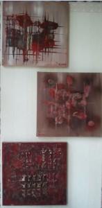 Rote eckige Bilder