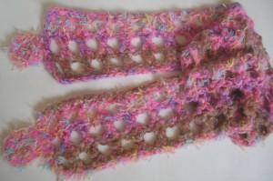 Schal rosa braun