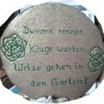 Töpfern Gartenweisheit 01